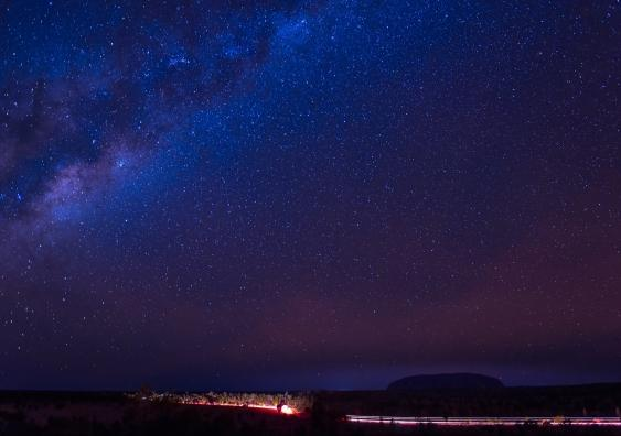 Stars above Uluru - copyright Indigenous Law Centre